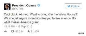President Obama's tweet