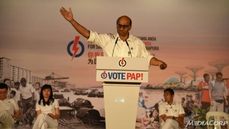 DPM Tharman at East Coast rally. Photo from MediaCorp