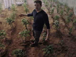 One of Mark's triumphs. Scene from the movie, The Martian
