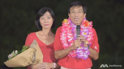 Chee Soon Juan after losing the Bukit Batok by-election. Image from CNA