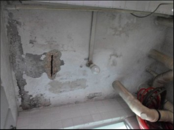 Spalling concrete. Photo source from HDB and ST